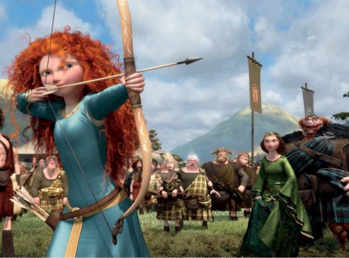 Women with bows and/or arrows - you couldn't avoid them in 2012 pop culture