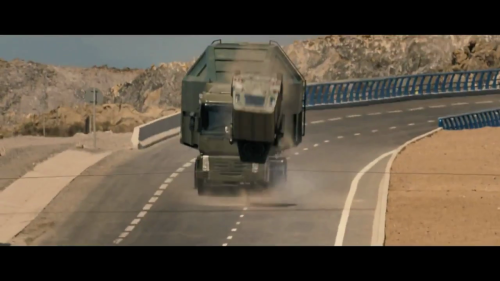 Vehicles flipping? But I thought this was a Merchant Ivory film?